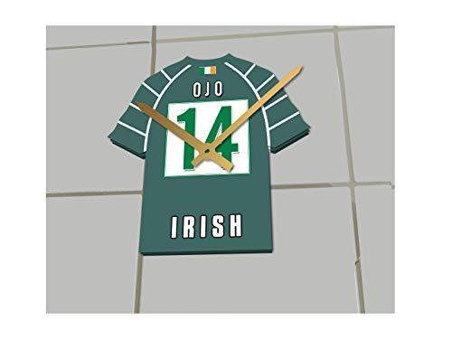 MyShirt123 English Premiership Rugby Union – Rugby-Trikot-Uhr – beliebiger Name und jede Nummer – Sie wählen (London Irish Rugby RFC)