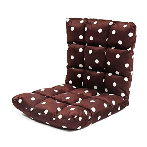 Folding Recliner Lounge Schlafsofa Sitzsack Sofa Heim Balkon Lounge-Kissen Stuhlkissen Fenster Tatami Bodensitz 95x35x13cm (Color : Brown)
