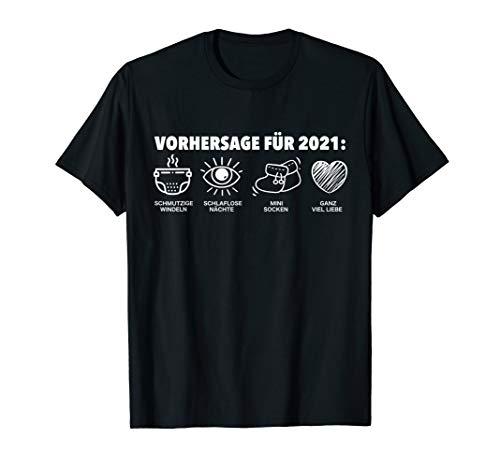 Vorhersage 2021 Werdende Mama & Papa Babybauch Babyparty T-Shirt