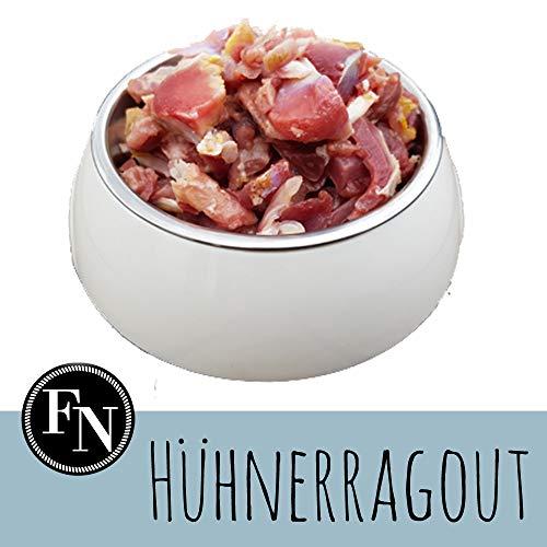 Frostfutter Nordloh > Hühnerragout < 24 x 500 g, Barf Hundefutter gefroren, Frostfleisch-Paket, Gefrierfutter-Set für Hunde, Barf Frischfleisch