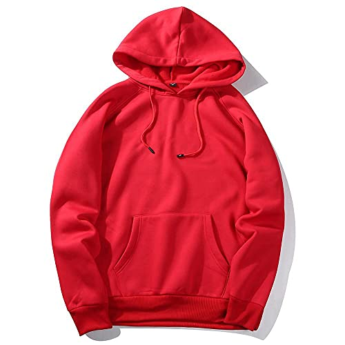 Kapuzenpullover Herren Hoodie Kapuzenjacke Slim Fit Moden Basic Sweatshirt Langarm Pullover-Shirt mit Kapuze Sportjacke Outdoorjacke