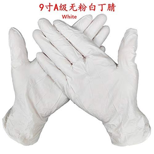 20/50 stuks universele handschoenen, poedervrij, keukenhandschoenen van latex, vaatwasser/werk/rubber/tuinhandschoenen, maat S S 20 stuks.