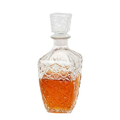 Rabbfay Whisky Licorera, Alcohol Licorera Cuadrado Vidrio Botella, nórdico Estilo Sin Plomo...