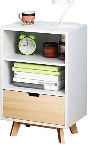 File cabinets Nachttisch, Nachttisch, Korridor, Zuhause, Spind, Bodenstehend, Schlafzimmer, Einzelbett, Pumpen, Wohnzimmer, Aufbewahrungsbox, Beistelltisch (Farbe: Weiß)