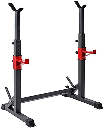 Cnley Banco plegable Prensa de mancuernas Dumbbell Bench Uublik Fitness Bench Press, Barbell de gimnasio plegable ajustable, bastidor de barra 550 Lbs Max Cargar Ajustable Squat Stat Station Station C