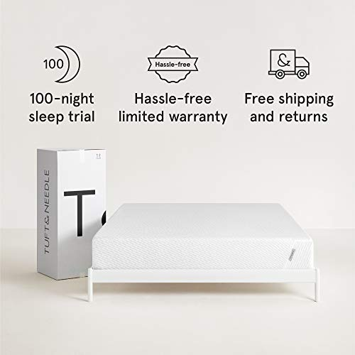 Tuft & Needle King Mattress, Bed in a Box, T&N Adaptive Foam, Sleeps Cooler with More Pressure Relief & Support Than Memory Foam, Certi-PUR & Oeko-Tex 100 Certified, 10-Year Warranty.