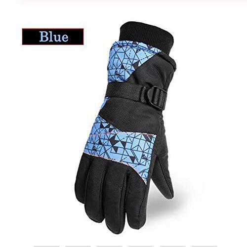 Gyt& Winterhandschuhe Touchscreen-Handschuhe Skihandschuhe Skihandschuhe Hockeyhandschuhe Outdoor-Sporthandschuhe Outdoor-beheizte Skihandschuhe Warme Campinghandschuhe,Blau