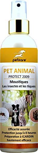 Peticare Spray Anti-Insectes pour Chien, Cheval et Chat -...