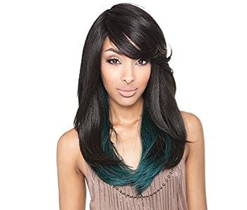 ISIS Brown Sugar Human Hair Blend Full Wig - BS110  1B