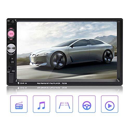 Aramox 7023B Lettore MP5 per Auto, 7in 2DIN Vivavoce Bluetooth FM Radio Player Retromarcia Video Macchina Integrata con Fotocamera