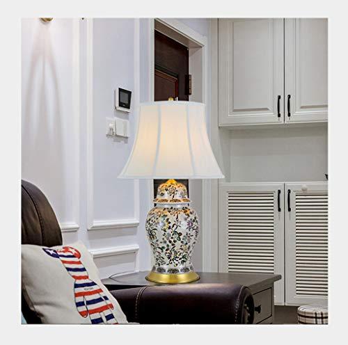 WYZ. Lámpara de Mesa Dormitorio Simple Mesa de Centro de cerámica Decorada Lámpara de Noche (Size : B77*47cm)