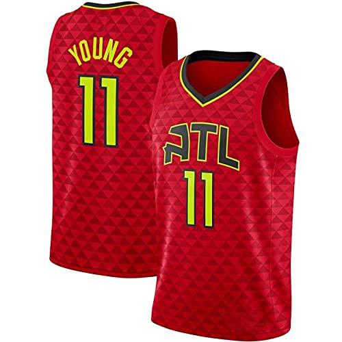 TTXS Young #11 Hawks Basketballtrikot Sport Freizeittrikot Fan Jersey Schnelltrocknend Jersey (S-5XL) 5XL Rot