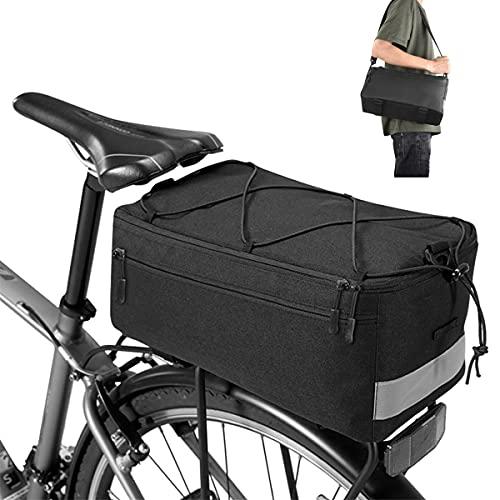 Fahrrad Gepäckträgertasche Fahrrad Sitz Multif ringl Isolierte Stammkühltasche, Umhängetasche estantes chartered asiento trasero bolsa impermeable aislamiento térmico gran capacidad, 35x17x16cm