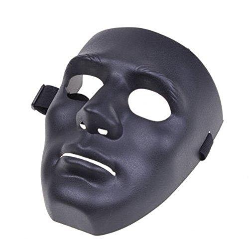 Bello Luna Hip-Hop-Tanzmaske Cosplay Maske für Halloween Maskerade Party - Schwarz