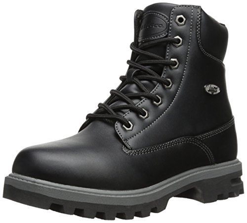 Lugz mens Empire Hi Wr Thermabuck industrial and construction boots, Black/Charcoal, 14 US