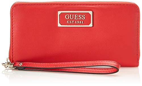 Guess Damen Kamryn SLG Large Zip Around Geldbeutel, Rot (Lipstick), 2x10x21 Centimeters