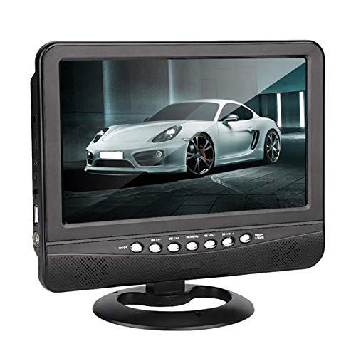 DQWGSS Tragbarer 9-Zoll-HD-DVD-Player, Adapter Nach Europäischem Standard, Fernbedienung, Geeignet Für Auto, Outing Und Play (Schwarz)