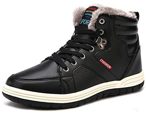 [SIXSPACE] スノーブーツ メンズ スノーシューズ 防寒靴 防水 防滑 アウトドアシューズ ウィンターブーツ 綿雪靴 滑り止め ブラック 28cm