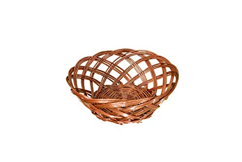 Traditional Spot Wicker Storage Basket for Bread, Fruit & Vegetables Handmade from Natural Willow