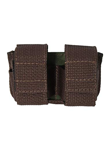 Barsony New Woodland Green Double Speed-Loader Pouch for 6 Shot .44 mag Revolvers