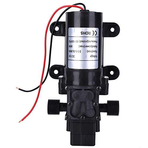 FL3210-80W DC12V Membranpumpe, Mini Intelligent Membranpumpe, Permanentmagnet Gleichstrommotor Membran Wasserpumpe, für Wasseraufbereiter 1/2in Gewindeauslass 4800 U/m 0,08 kW