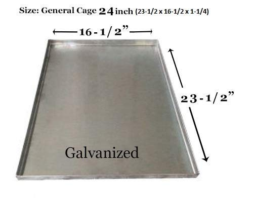 """Pinnacle Systems Dog Tray for Large Dogs for Pet Kennel Tray Pet Crates for Small Dogs Pet Tray - General Cage 24-inch Dog Crates - GL - 23 1/2"""" x 16 1/2"""" x 1 1/4"""" H Categories"""