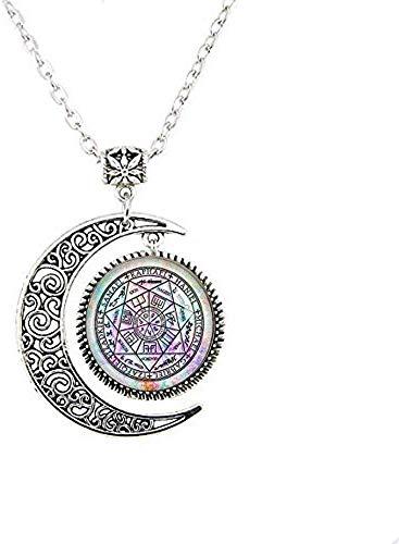 Collar con 7 ángeles de arco, protección de la luna, amuleto Arcáng