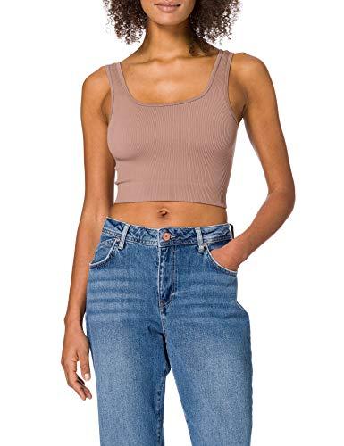 Vero Moda VMEVE Top Noos Camiseta sin Mangas, Brownie, M para Mujer