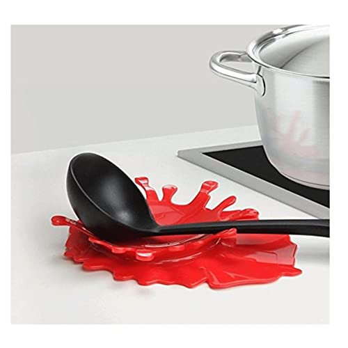 tifee Mustard - Supporto per Cucchiaio in Silicone a Forma di Ketchup, Ideale Come Regalo Creativo