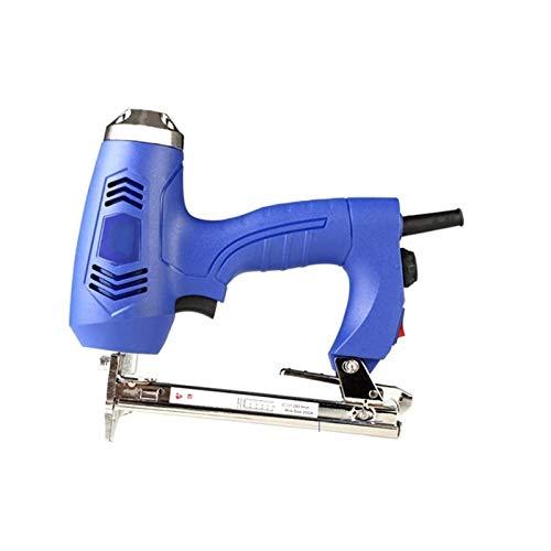 Sdesign Pistola eléctrica para Grapas/Grapadora/Tacker/Grapa y Pistola de Clavos 2-en-1 □ para tapicería, Telas, Textiles y Madera Delgada para 4-13mm 210-240v Ventilación de la Parrilla y disip
