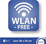 Desconocido Sticker 'WLAN -Free'. (Hin_265). For Your Bakery, Cafe, Restaurant or Shop.   Free WLAN   Free WiFi Note on Free W-LAN