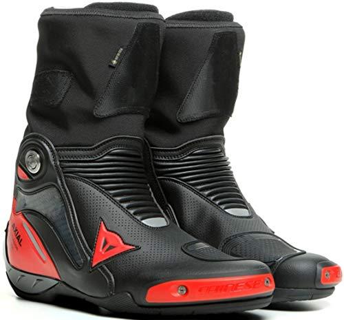 Dainese Axial Gore-Tex Botas impermeables para motocicleta, color negro/rojo, talla 42