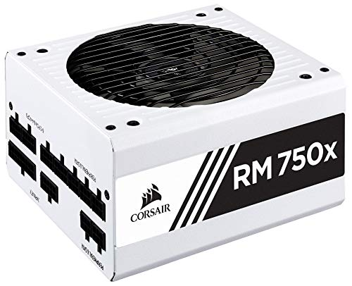 Corsair RMX White Series (2018), RM750x, 750 Watt, 80+ Gold Certified, Fully Modular Power Supply -...