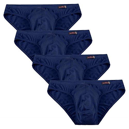 Avidlove 4er Pack, Slips Modal - seidenweich Unterhose short underwear Unterhosen Trunk Shorts Unterwäsche Slip Herren Männer- Gr. EU L, 4 x Blau