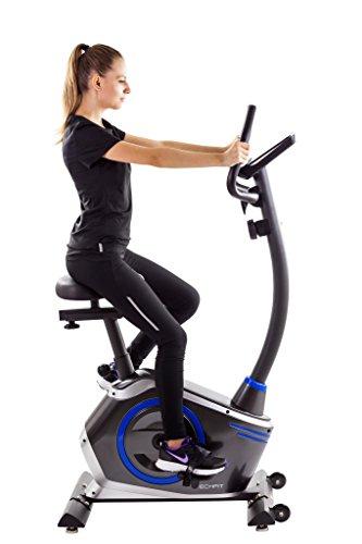 TechFit B410 Bicicleta estática de Ejercicio, Magnética, Máquina de Cardio de la Resistencia de la Pérdida de Peso con la Silla de Montar Ajustable, los Sensores del Pulso y el Monitor LCD