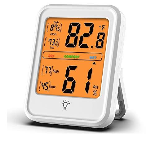 Innenwetterstation, Thermo-Hygrometer, Raumthermometer Digitaler Innenhygrometer-Monitor Temperatur- und Luftfeuchtigkeitsmesser für den Komfort im Heimbüro (Square)