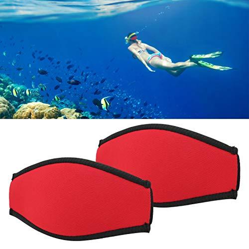 Guoshiy Correa de Buceo, Cubierta de Espejo de Buceo Antideslizante con 2 Piezas para Nadar, bañarse, Surf, esquí acuático, piragüismo y Kayak(Red)