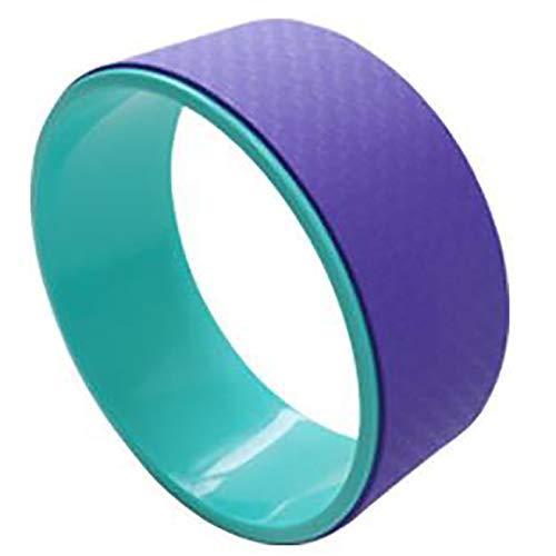 NEHARO Dharma Ejercicio Rueda Anillo de Ayuda de Yoga Ring Pilates Anillo de Fitness Apto para el hogar Indoor Yoga Wheel Fitness Products Acolchado (Color : Light Purple, Size : 12x32cm)