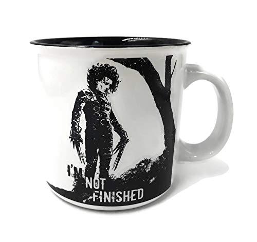 "EDWARD SCISSOR HANDS /""i/'m not finished/"" CAMPER coffee MUG NEW"