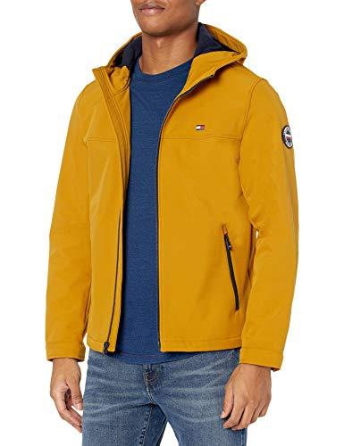 Tommy Hilfiger Herren Lightweight Performance Softshell Hoody Jacket Übergangsjacke, gelb, Medium