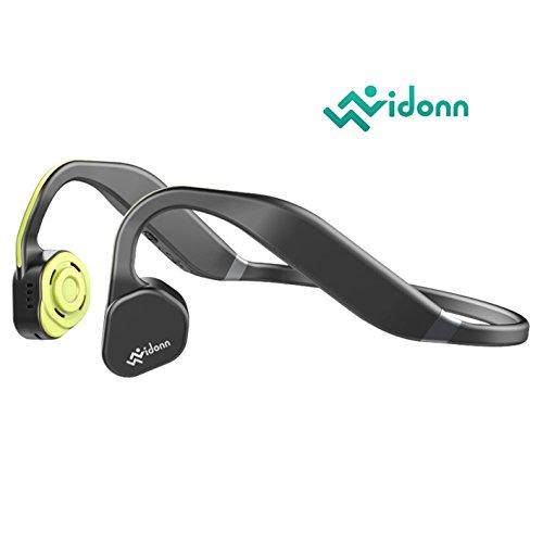 Vidonn F1(gelb grau) Titanium Open Ohr Bluetooth Wireless Sport Bone Conduction Kopfhörer mit Mikrofon für Laufen Radfahren Wandern