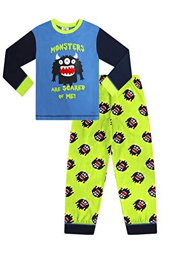 Jungen Schlafanzug Cheeky Monsters Are Scared of Me Gr. 3-4 Jahre, blau
