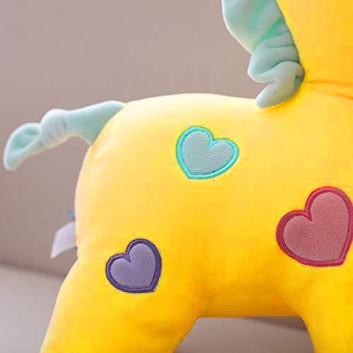 HUG 'n' FEEL SOFT TOYS Unicorn, Soft toy, Baby toys, Kids toy, Soft toy, Toy for girl, birthday gift for girl/boys, Elephant toys for kids, toy gift for girls, Kids toys for boys/girl, toys gift items, (30 cm Unicorn, Yellow)