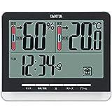 タニタ 温湿度計 時計 アラーム スヌーズ 温度 湿度 デジタル 大画面 ブラック TT-538 BK 温度・湿度の快適レベルを5段階でお知らせ
