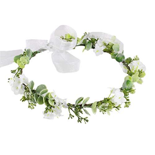 Wusuowei Adjustable Flower Stirnband Fairy Wreath Crown Wedding Garland Headpiece Hochzeit Braut Stirnband Tiara