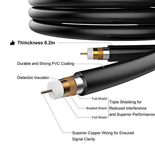 1byone Antenne TNT Intérieur/Extérieur Omnidirectionnel TV Digitale pour TV HD/Récepteur DVB-T VHF/UHF, pour TNT et Signaux Analogues TV, Anti- UV, Etanche, à 80km Range
