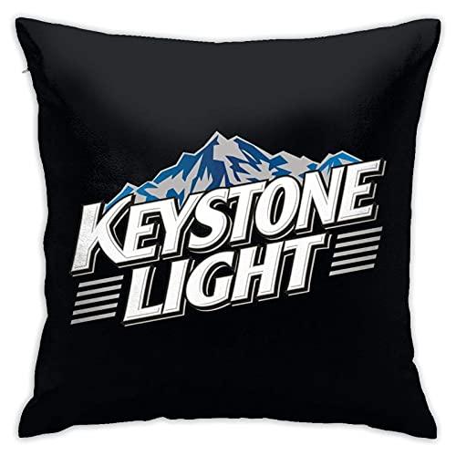 IUBBKI KeySTONe LiGHT - Funda de almohada de poliéster suave para decoración del hogar, 45,7 x 45,7 cm