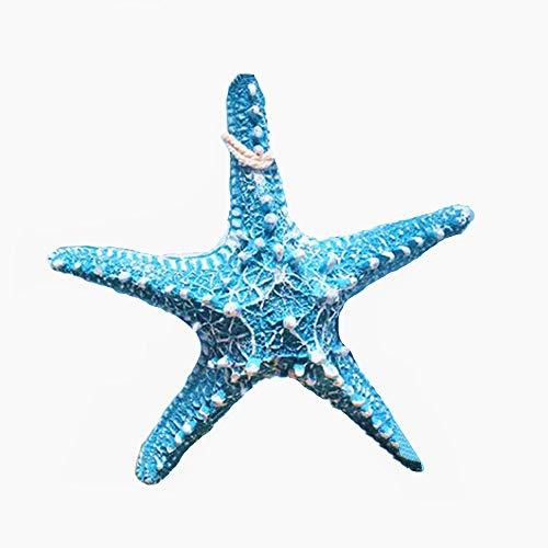 RAYLINE-DO RayLineDo Creative Mediterranean Style Design Beach Starfish Resin Five-Pointed Star in Light Blue Home Restaurant Kindergarten Wall Hanging Decoration