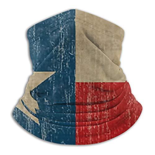 SARA NELL Vintage Texas Flag Neck Gaiter Headwear Face Sun Mask Magic Scarf Bandana Balaclava Headband for Men Women Cycling Fishing Motorcycling Running Skateboarding