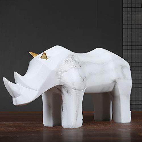 FAGavin Deko Einfache Origami Nashorn Ornamente Kreative Modell Raum Dekoration Geometrische Origami Rinder Tier Möbel